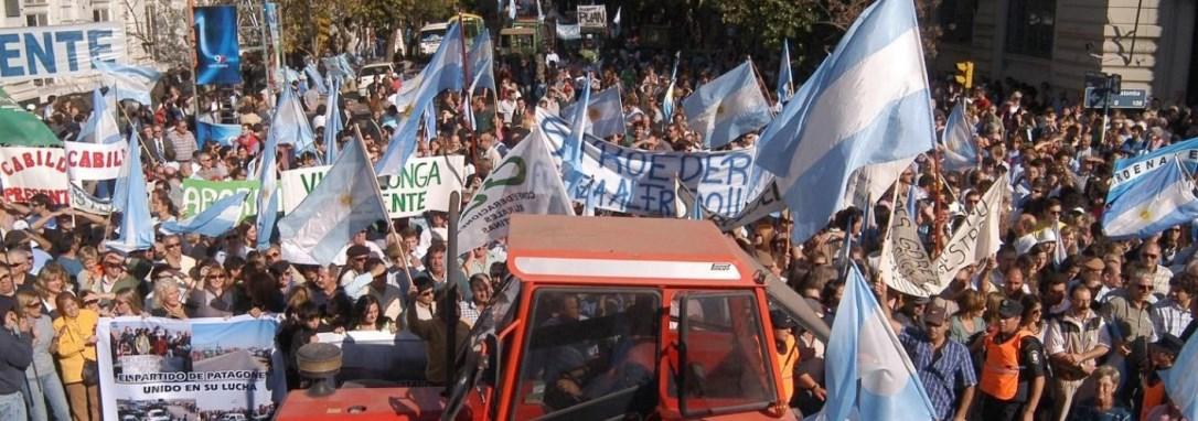 Las protestas del campo por la 125