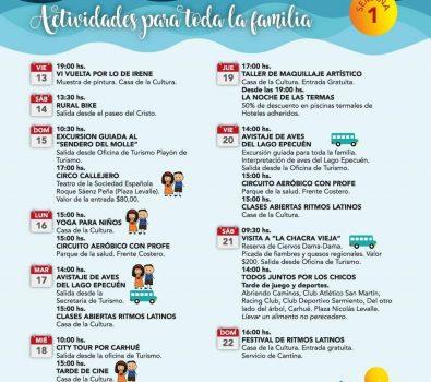 Actividades en Carhué