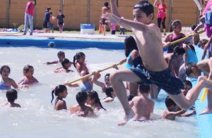 Piletas de natación de las colonias de verano