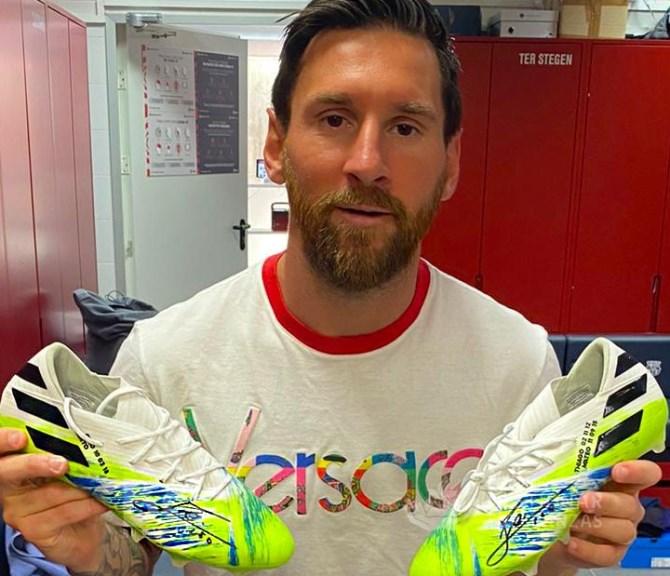Los botines de Lio Messi